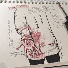 #inktoberday10 : Drown - - - - - - - - - - - - - - - - - - - - - - #tylerjoseph #twentyonepilots #tøp #drown #clique #skeletonclique #cliqueart #inktober2017 #jakeparker #artsy #gore #blood #cliquearist #artist #art #draw #drawing #ink #aquarelle #red #joshdun #jøshdunisthehottestguyandthebestdrummerinthewholefrickingworld #oldsongs #nophunintended