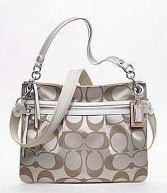 I love this purse! COACH POPPY SIGNATURE SATEEN HIPPIE | Dillards.com