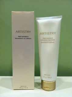 """ARTISTRY® TIME DEFIANCE® Cleansing Treatment 4.4 oz. by ARTISTRY. $28.99. Cleansing Treatment gently removes makeup, dirt, and excess oil while improving skin's firmness and elasticity to keep skin looking younger. Formulated with non-irritating ingredients, it also calms skin, increasing its resistance to the visible signs of irritation. Using """"smart technology,"""" Cleansing Treatment moisturizes only specific areas of skin that need hydration. Ideal for most skin types."""