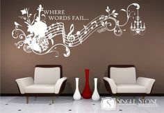 Decor - Music wall word art