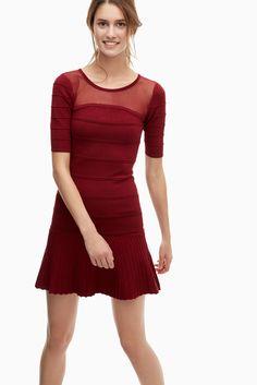 Vestido lady en punto otomán - vestidos | Adolfo Dominguez shop online