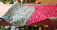 Handmade Christmas Table Runner by HolidaysHolidays on Etsy