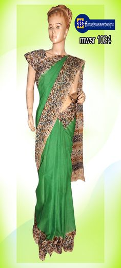 Tie and dye #cotton #saree with #kalamkari print Code: 1024 Price: 695/- ( bulk buyers / wholesale / boutiques / Retail shops for trade inquiries please contact our whatsapp no 8801302000