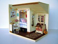 "Hand-made miniature scene 1:12 scale ""Like in a nest"""