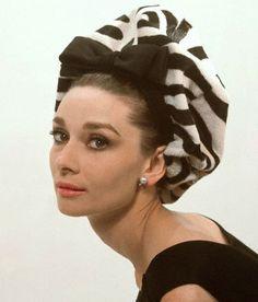 Audrey Hepburn in Puffy Hat circa 1964
