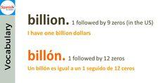 False friends: billion / billón