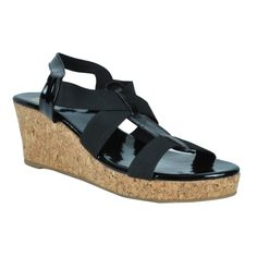 Eve Dior's Black Colored Synthetic Wedges available at #Celebstall #onlineshopping