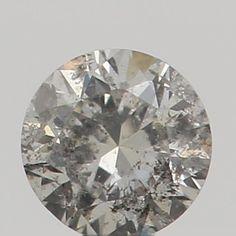 2.50 MM 0.06 Ct Natural Loose Diamond Cut Round Shape Gray Color L9413