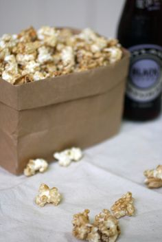 Caramel popcorn (in a paper bag in the microwave).  Used to make this with the Clemens girls back in the day!!