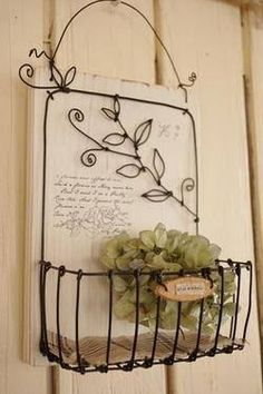 1 million+ Stunning Free Images to Use Anywhere Wire Hanger Crafts, Wire Hangers, Wire Crafts, Metal Crafts, Recycled Crafts, Diy And Crafts, Wire Baskets, Baskets On Wall, Diy Gift For Bff