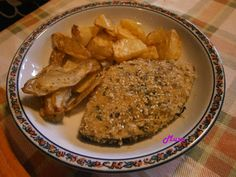 Cucina per Gioco : Pesce Spada in crosta di sesamo accompagnato da pa...