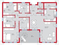Extrem cooler grundriss f r einen bungalow b renhaus for Schwimmingpools preiswert