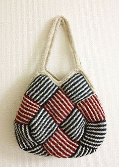 Ravelry: Garter Stripe Square Bag pattern by Ishi-knit-free pattern; pattern is in Japanese, but there are some general guidelines