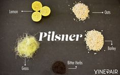 Simple pilsners are often noted for their bitter quality. You might taste earthy grass, oats, barley, and a hint of lemon tang.