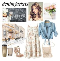 """""""Denim Jacket for a Cafe Morning"""" by whims-and-craze ❤ liked on Polyvore featuring Paul Andrew, Billabong, Apache Mills, Miss Selfridge, Kate Spade, denimjackets and WardrobeStaples"""