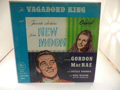 New-Moon-Vagabond-King-Gordon-MacRae-LP-Music-Record-Album-Vinal-33-1-3-RPM