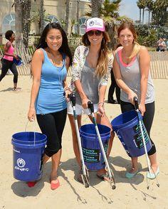 Audrina Patridge at the Ocean Minded Santa Monica beach cleanup!
