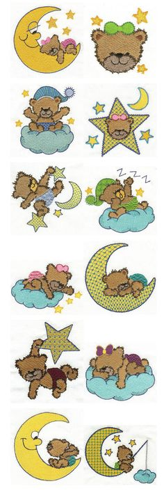 Embroidery | Free machine embroidery designs | Bedtime Bears