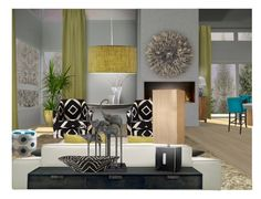 """""""Eclectic Energy"""" by kelly-taylor ❤ liked on Polyvore featuring interior, interiors, interior design, home, home decor, interior decorating, Menu, Maytex, Canterbury and Nate Berkus"""