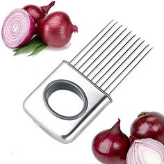 EH-LIFE Onion Holder Odor Remover Chopper, Staniless Steel, Avoid Onion Smell on Your Hands, Dishwasher Safe ** You can find more details by visiting the image link.
