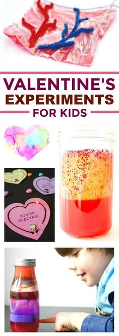 30+ VALENTINE\'S THEMED EXPERIMENTS FOR KIDS- these are so cool!! #scienceforkids #valentinesideasforkids