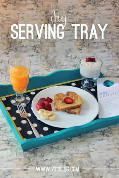 Create this adorable DIY serving tray to serve your mother something special on Mother's Day!