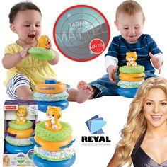 Conheça Argolas Divertidas, de Shakira. Peça pelo código Reval 56799 (CJV20) pelo 0800-701-1811 ou pelos representantes de vendas de sua região e ótimas vendas!  Diversão de empilhar argolas, desenvolvida em parceria com a Shakira, para incentivar o desenvolvimento do bebê!  O bebê se diverte empilhando argolas!   #Reval #Mattel #RadarMattel #FisherPrice #Baby #Bebê #Bebe #Shakira #Toy #Brinquedo #Kids