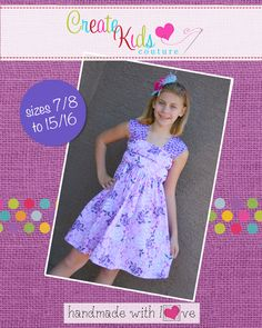As a top, Maxine's can be worn with shorts or a bloomers for warm weather and then layered with Brenda's Bubble T-Shirt or a sweater and Jenna's Ruffle Pants as the seasons change to cooler ones. As a dress, it can easily be fancied up with girly fabrics, fancy shoes, and a beautiful chunky necklace! Use cotton or linens with lace or satin trims and really let your imagination take you away!