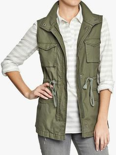 Need It Now: Army Green Canvas Vest