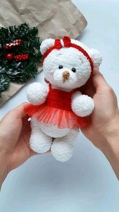 for beginners tutorials videos teddy bears Amigurumi bear – pattern. Crochet Bear Patterns, Amigurumi Patterns, Amigurumi Doll, Crochet Animals, Crochet Teddy, Crochet Dolls, Stuffed Animal Patterns, Polar Bear, 1 Cup