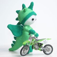 Amigurumi doll in dragon costume - printable PDF