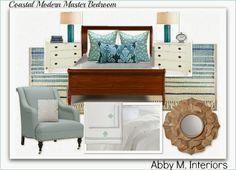 Coastal Modern Master Bedroom by Abby M. Interiors