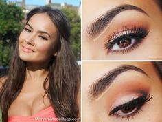 """""""Coral Sunset"""" Monochrome Look & Makeup"""