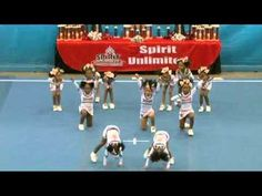 """CAO Elite All Stars """"Cutie Pies"""" Tiny Level 1 - place Northern Peach Championship 12 February 2011 season Video © to Spirit Unlimited & Digital. Cheerleading Moves, School Cheerleading, Cheer Stunts, Cheer Dance Routines, Cheer Moves, Easy Cheers, Kids Cheering, Disney Princess Toys, Cheer Coaches"""