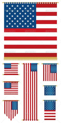 Realistic Graphic DOWNLOAD (.ai, .psd) :: http://hardcast.de/pinterest-itmid-1005051934i.html ... USA Banners ...  america, badge, banner, blue, curtain pole, emblem, flag, gradient, graphic, heritage, illustration, isolated, patriotic, red, stars and stripes, usa, vector, wall hanging, white  ... Realistic Photo Graphic Print Obejct Business Web Elements Illustration Design Templates ... DOWNLOAD :: http://hardcast.de/pinterest-itmid-1005051934i.html