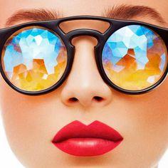 Holes, les lunettes de soleil kaléidoscopiques de Pamelia Tietze