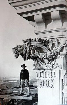 Bauarbeiten am Reichstag im Jahr 1892.