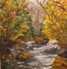 Painting with wool felting