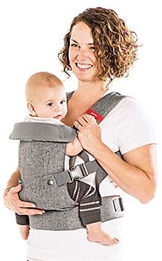 YOU+ME 4-in-1 Ergonomic Baby Carrier, 8 - 32 lbs (Grey Mesh) : Baby