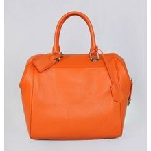 Louis Vuitton Calfskin Leather Tote Bag - Orange 93811  $239.00