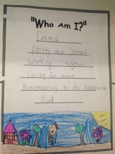 who am I_about me poem for primary grades. A free template and a how to use poetry to enourage students to get to know their classmates from The Teaching 2 Step