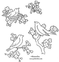 Robins Embroidery Pattern