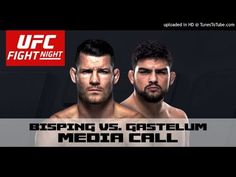 MMA Michael Bisping and Kelvin Gastelum Media Call