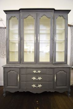 1960s French Provincial Display Cabinet Gets An Update
