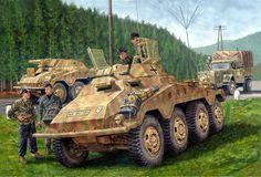 SdKfz 234/1, 6 Panzer Division Austria 1945