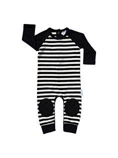 Black Stripe Crawlsuit