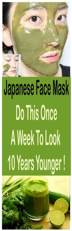 Japanese Face Mask: Do This Once A Week To Look 10 Years Younger #beauty #health #facemask #remedies #health #skincare
