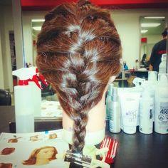 Simple frenchbraid Dreadlocks, Simple, Hair Styles, Beauty, Beleza, Dreads, Hair Looks, Cosmetology, Hair Cuts