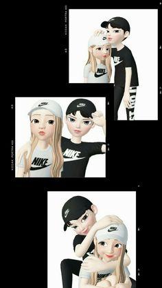 Get Good Nike Wallpapers for Smartphones Today! Love Cartoon Couple, Cute Love Cartoons, Cute Couple Art, Happy Cartoon, Girl Cartoon, Cartoon Art, Cute Couples, Funny Lockscreen, Hijab Cartoon