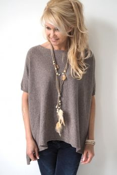 Cashmere Oversize, TAUPE